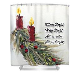 Happy Holidays Shower Curtain