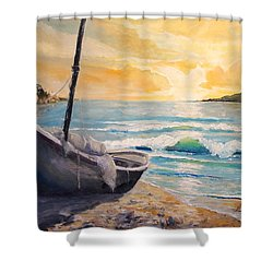 Happy Hour Shower Curtain by Alan Lakin
