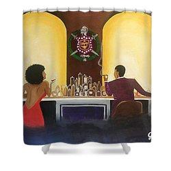 Happy Hour Shower Curtain by Jamie Bonfiglio