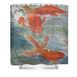 Happy Koi Shower Curtain