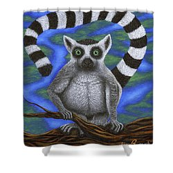 Happy Lemur Shower Curtain