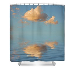 Happy Little Cloud Shower Curtain by Jerry McElroy