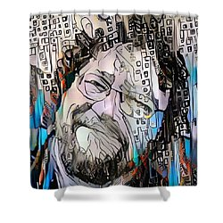 Happy Man's Face Shower Curtain