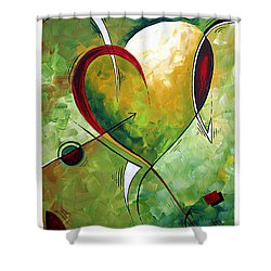 Happy Mother's Day By Madart Shower Curtain by Megan Duncanson