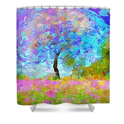 Happy Nature Shower Curtain
