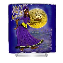 Happy New Moon Sirach 43 Shower Curtain