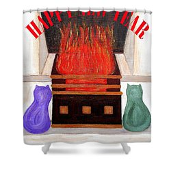 Happy New Year 2 Shower Curtain by Patrick J Murphy