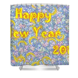 Happy New Year 2017 Shower Curtain by Jean Bernard Roussilhe