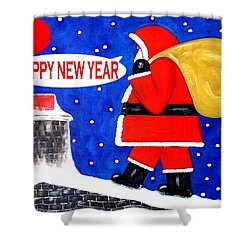 Happy New Year 48 Shower Curtain by Patrick J Murphy