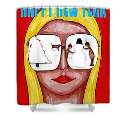 Happy New Year 51 Shower Curtain by Patrick J Murphy