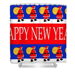 Happy New Year 7 Shower Curtain by Patrick J Murphy