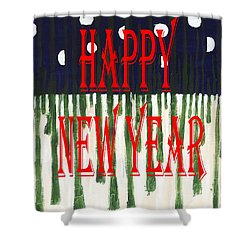 Happy New Year 92 Shower Curtain by Patrick J Murphy