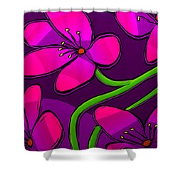 Happy New Year Shower Curtain by Latha Gokuldas Panicker