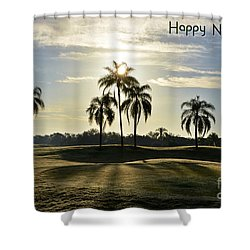 Happy New Year 2018 Shower Curtain