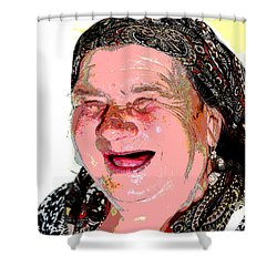 Babcia Shower Curtain
