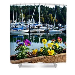 Happy Pansies Shower Curtain