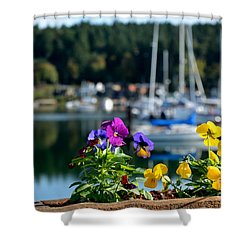 Happy Pansy Shower Curtain