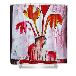 Happy Poppy Shower Curtain