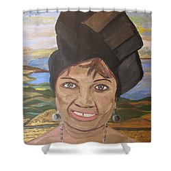 Happy Ramadan - Auntie Johnson Shower Curtain