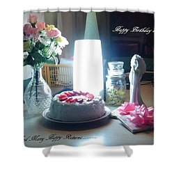Happy Returns Shower Curtain