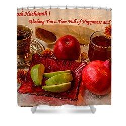 Happy Rosh Hashanah Shower Curtain