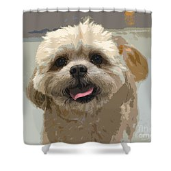 Happy Shih Tzu Shower Curtain