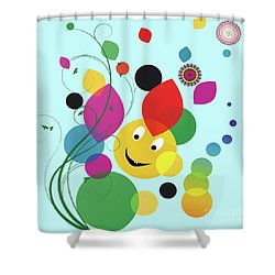 Happy Spring Image Shower Curtain by Heinz G Mielke