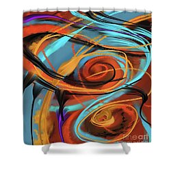 Shower Curtain featuring the painting Happy by Sgn