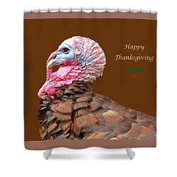 Shower Curtain featuring the photograph Happy Thanksgiving by Marion Johnson
