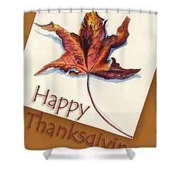 Happy Thansgiving Shower Curtain