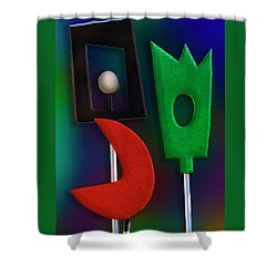 Shower Curtain featuring the photograph Happy Together  by Paul Wear