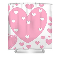 'just Hearts' Shower Curtain