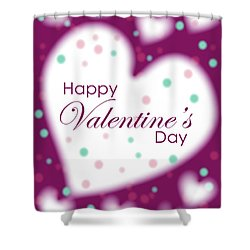Happy Valentine's Day Shower Curtain