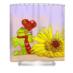 Shower Curtain featuring the photograph Happy Valentine's Day by Teresa Zieba