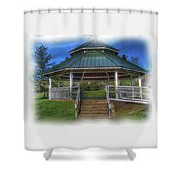 Shower Curtain featuring the photograph Happy Valley Gazebo Art  by Thom Zehrfeld