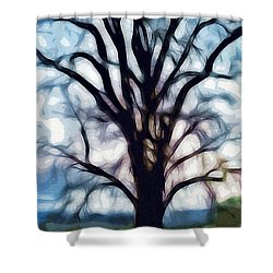 Happy Valley Tree Shower Curtain