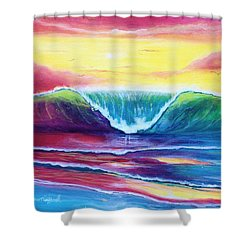 Happy Wave Shower Curtain