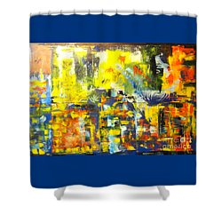 Happyness And Freedom Shower Curtain