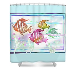 Happiness Is A Clean Ocean  Shower Curtain