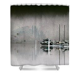 Harbor And Boats Shower Curtain by John Rossman