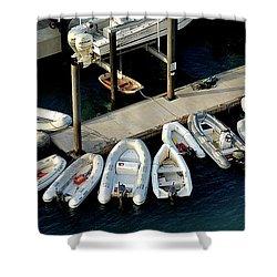 Harbor Boats Shower Curtain