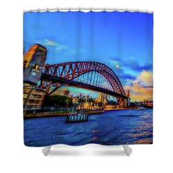 Shower Curtain featuring the photograph Harbor Bridge by Perry Webster