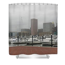 Harbor Happiness Shower Curtain
