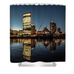 Harbor House View Shower Curtain by Randy Scherkenbach