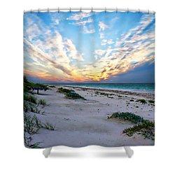 Harbor Island Sunset Shower Curtain by Anthony Dezenzio