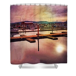 Shower Curtain featuring the photograph Harbor Mood by Chriss Pagani