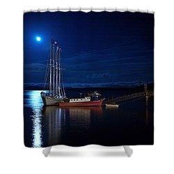 Harbor Moon Shower Curtain