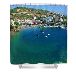 Harbor Of Bali Shower Curtain
