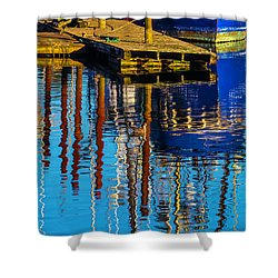 Harbor Reflections Shower Curtain