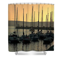 Harbor Sunrise Shower Curtain